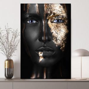 Tablou Canvas Fashion Golden Face BGM82