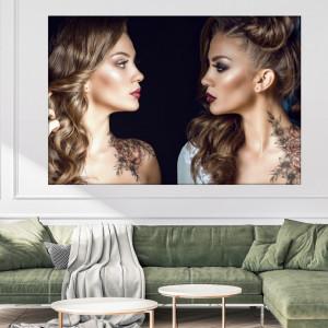 Tablou Canvas Femeie cu Machiaj de Zi si Seara BGM73