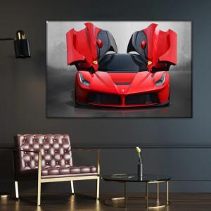 Tablou Canvas Ferrari, Masina Sport Rosie ADC25