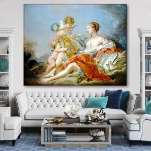 Tablou Canvas Francois Boucher Alegoria Artei Muzicale RFB5