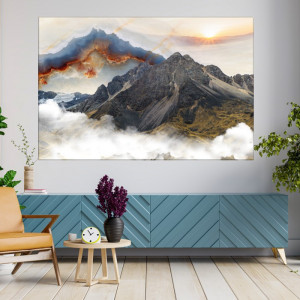 Tablou Canvas Peisaj Montan La Apus BPC37