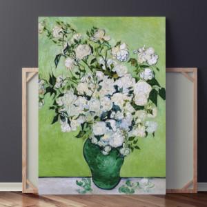 Tablou Van Gogh - Vaza cu Trandafiri Albi