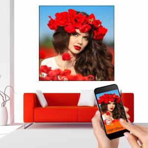 Tablou Canvas Personalizat 100x100cm