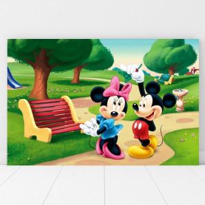 Tablou Canvas Minie si Mickey la Plimbare DEB5