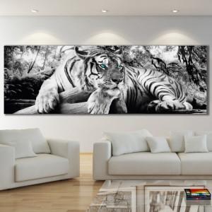 Tablou Canvas Tigru cu Ochi Turcoaz ATGR106