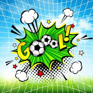 Fototapet 3D Minge Fotbal Efect Pop Art S178
