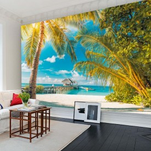 Fototapet 3D Peisaj Tropical la Mare PMO107