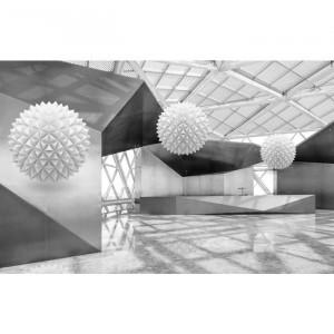 Fototapet 3D Sfere Printre Ziduri BES101
