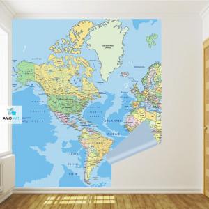 Fototapet Harta Politica a Lumii GM9