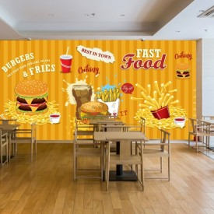 Fototapet Restaurant Fast Food FTS1