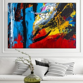 Tablou Canvas Abstract, Culori Vibrante CTB49
