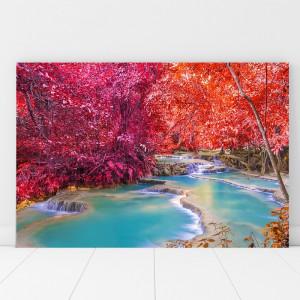 Tablou Canvas Cascada Printre Frunze Colorate BPC27