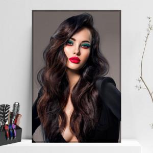 Tablou Canvas Femeie cu Par Matasos si Makeup Profesional FBSM65