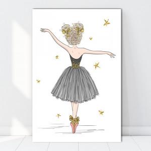 Tablou Canvas Fetita cu Fundite la Balet LOL25C