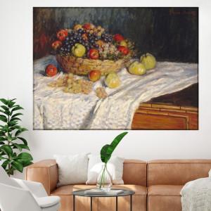 Tablou Claude Monet Cos cu Mere si Struguri