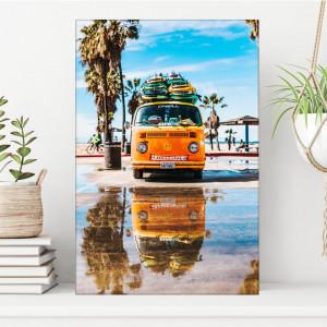 Tablou Minivan Hippie cu Placi de Surf OCC11