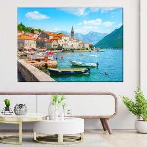 Tablou Oraș Istoric Perast la Golful Kotor Vara, Muntenegru PADR1