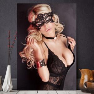 Tablou Canvas Femeie Sexy cu Masca SX65