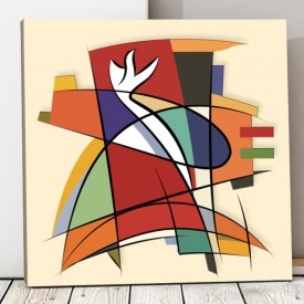 Tablou Canvas Forme Abstracte CTB18