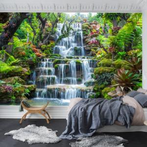 Fototapet 3D Cascada in Gradina Exotica din Thailanda PTH15