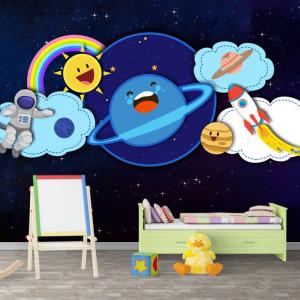 Fototapet Camere Copii, Vise de Astronaut OUS47