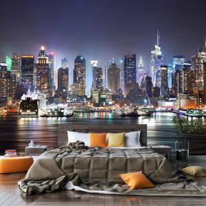 Fototapet Oras Noaptea, New York TUSA42