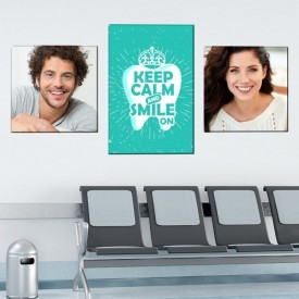 Tablou Canvas Keep Calm and Smile On TH36