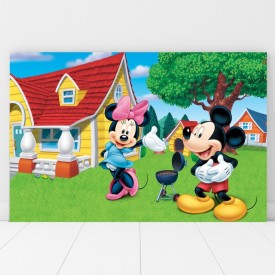 Tablou Canvas Minie si Mickey la Gratar DEB4