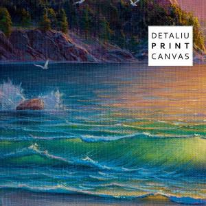Tablou Canvas Peisaj de Mare cu Munte TPP2