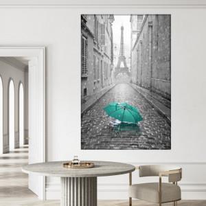 Tablou Canvas Umbrela Turcoaz la Paris NUC1