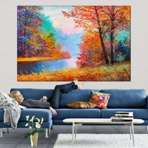 Tablou Canvas Peisaj Intr-o Armonie de Culori TPP45