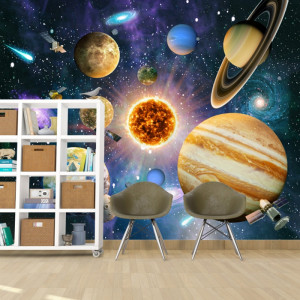 Fototapet 3D Planete Colorate in Univers OUS75