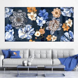 Tablou Canvas Flori Albastre CFB49