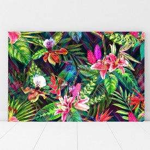 Tablou Canvas Peisaj Exotic cu Flori FRZ3