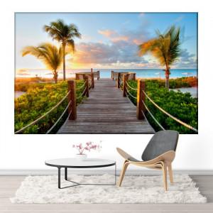 Tablou Canvas Ponton Spre Plaja Tropicala BCH59