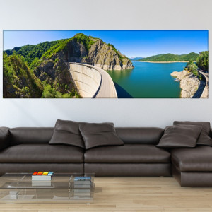Tablou Canvas Vedere Barajul si Lacul Vidraru ROM19