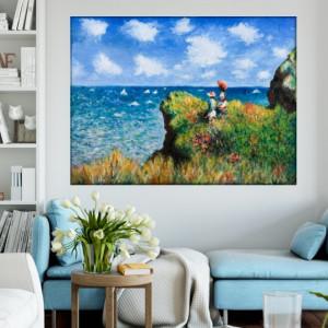 Tablou Claude Monet Plimbare pe Coasta Pourville