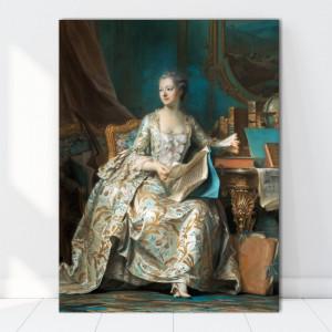 Tablou Portrait of Madame de Pompadour de François Boucher RFB9