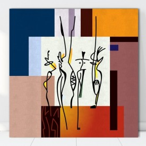 Tablou Canvas Forme Abstracte CTB25