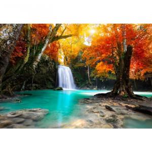 Fototapet 3D Peisaj Fabulos cu Cascada CCR42