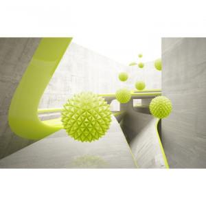 Fototapet 3D Sfere Verzi OPOS53