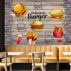 Fototapet Perete Fast Food Burger BES122