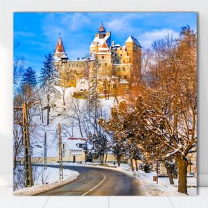 Tablou Canvas Castelul Bran Iarna ROM14