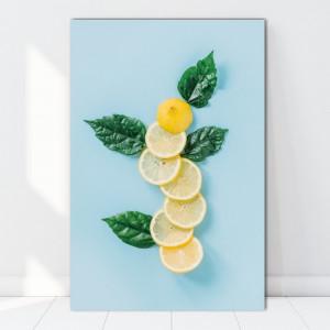 Tablou Canvas Design cu Felii de Lamaie BES91