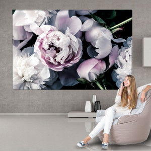 Tablou Canvas Flori de Bujor, Arta Florala Pastel CFB52