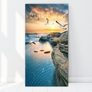 Tablou Canvas Peisaj Marin cu Pescarusi BTL44