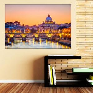 Tablou Canvas Roma, Apus in Orasul Romantic RIT43