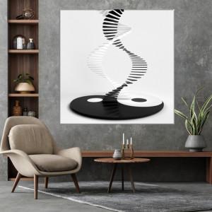 Tablou Canvas Scari 3D Yin si Yang FSHB42