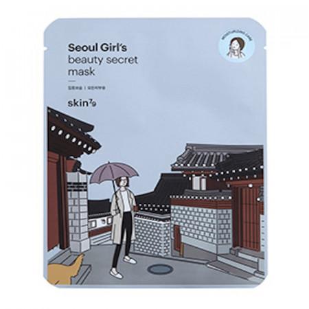 Mască anatomică facială pe suport bumbac Seoul Beauty Secret Moisturizing SKIN79 Mask Sheet - hidratare plic 20 ml.