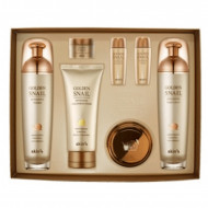 Set Complet Golden Snail Intensive Queen 4 Piese Extract Secreție Melc și Aur SKIN79